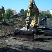 Hostěradice - rekonstrukce a odbahnění rybníka