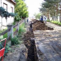 Zbýšov - rekonstrukce vodovodu a chodníky Nová Čtvrť